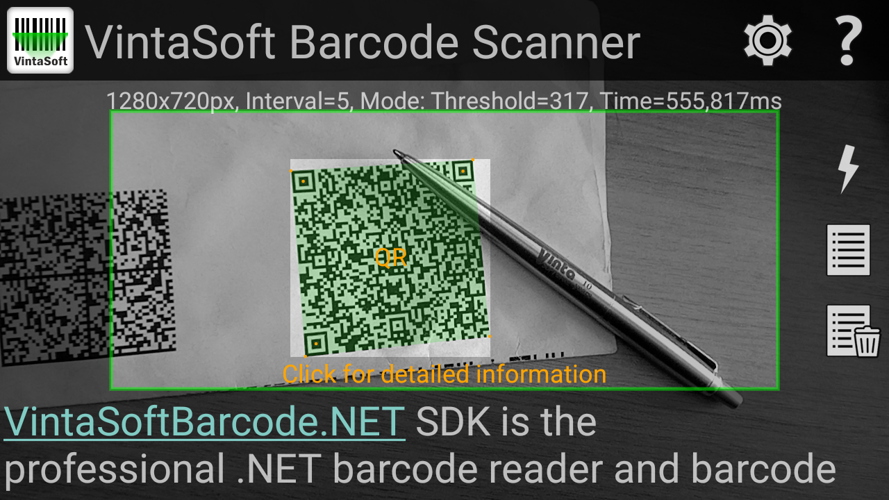 VintaSoft Barcode Scanner application for Android has been released