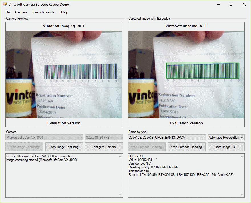 VintaSoft Imaging  NET SDK | Demo applications