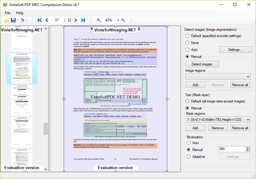 PDF MRC Compression Demo