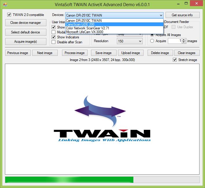 TWAIN Simple Demo