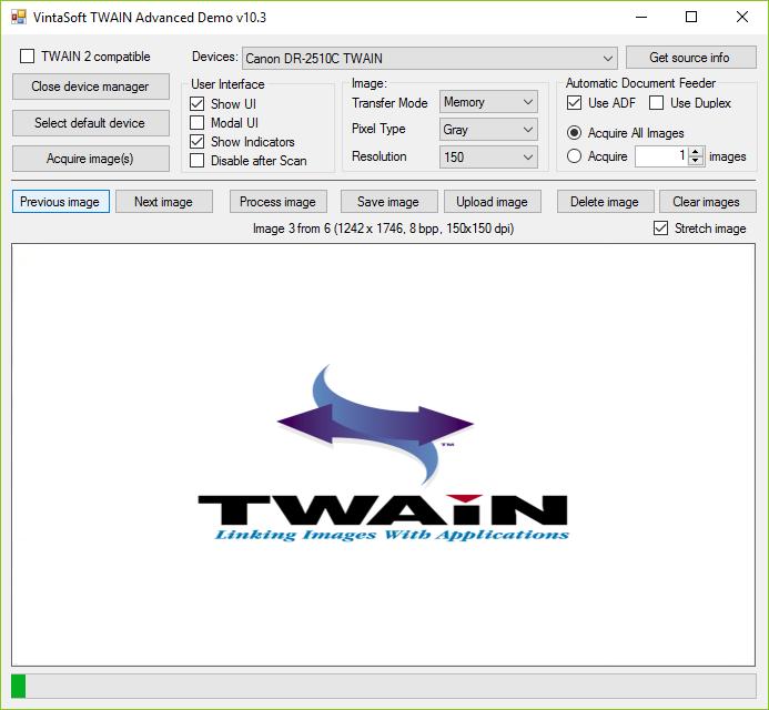 TWAIN Advanced Demo