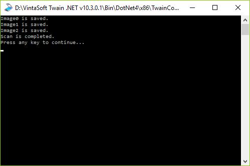 TWAIN Console Demo