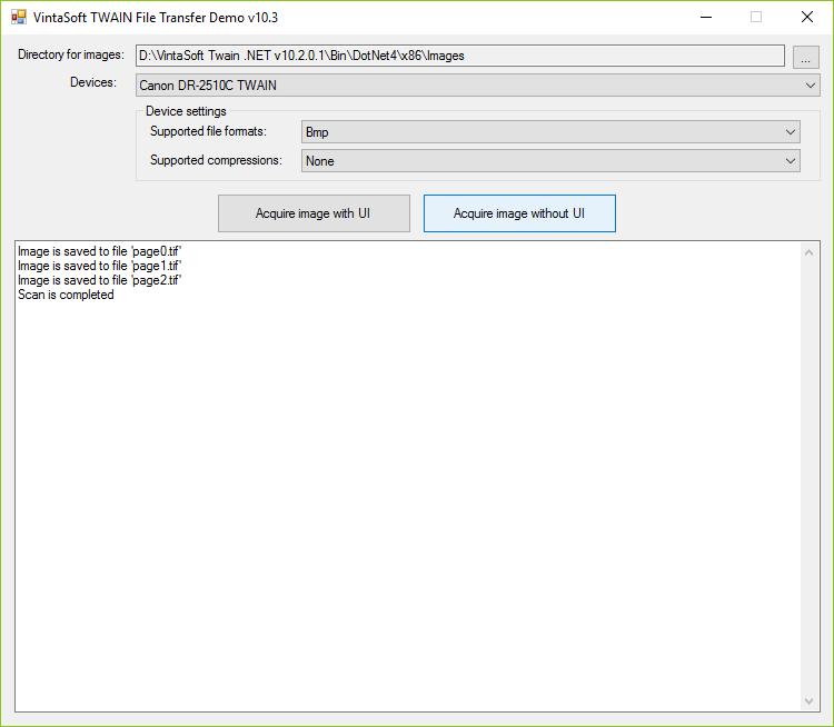 TWAIN File Transfer Demo