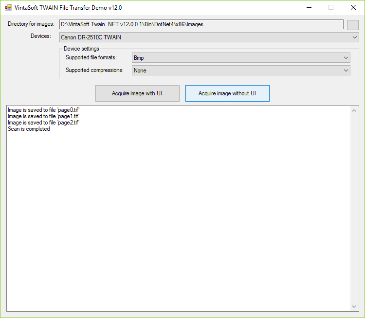 VintaSoft Twain  NET SDK | Image Acquisition Library For
