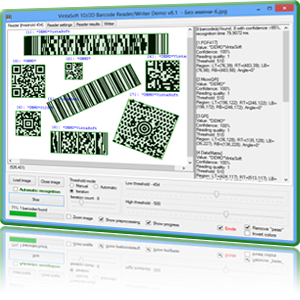 Click to view VintaSoft Barcode .NET SDK 10.0.1.1 screenshot